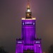 Illuminated of the Palace of Culture and Science - Warsaw